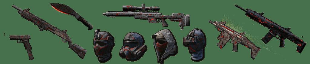 пушки и шлема магма. варфейс